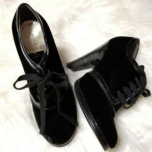 Marc by Marc Jacobs Velvet Ankle Booties